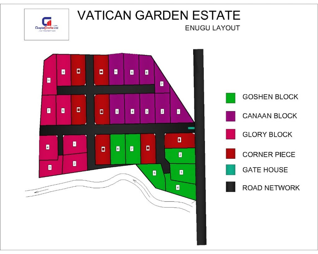 Vatican Garden Estate Enugu Prototype of a Terrace Building